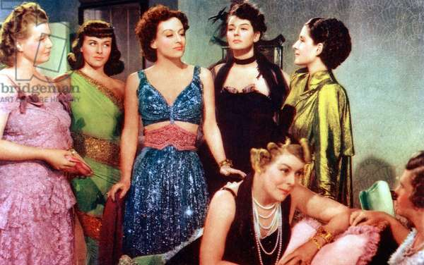 THE WOMEN, from left: Phyllis Povah, Paulette Goffard, Joan Crawford, Rosalind Russell, Mary Boland: THE WOMEN, from left: Phyllis Povah, Paulette Goddard, Joan Crawford, Rosalind Russell, Mary Boland (seated), Norma Shearer, 1939