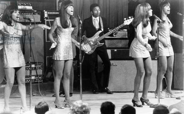 TAKING OFF, Tina Turner, (second from right), with The Ike and Tina Turner Revue, 1971