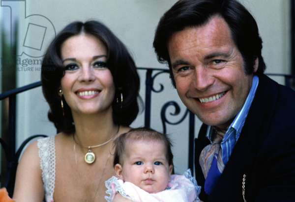 Natalie Wood, Robert Wagner with their daughter Courtney, ca. 1974