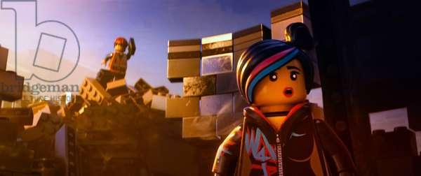 THE LEGO MOVIE, l-r: Emmet (voice: Chris Pratt), Wyldstyle (voice: Elizabeth Banks), 2014, ©Warner Bros. Pictures/courtesy Everett Collection