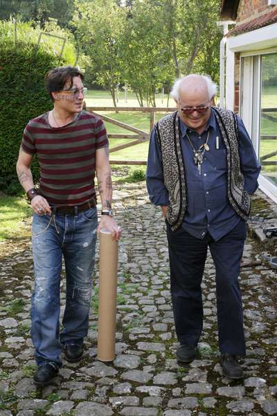 For no Good Reason: FOR NO GOOD REASON, from left: Johnny Depp, Ralph Steadman, 2012. ph: Charlie Paul/ ©Sony Pictures Classics/Courtesy Everett Collection