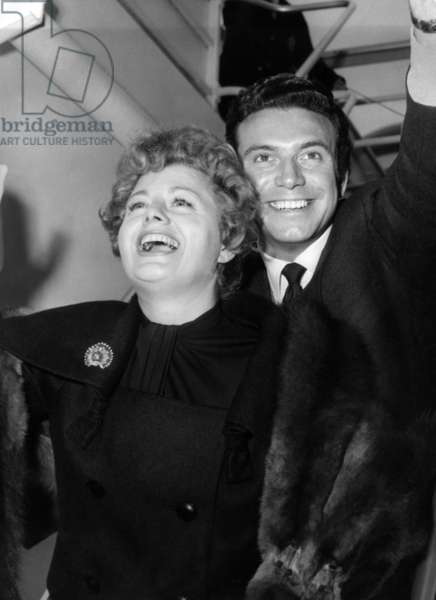 Shelley Winters, husband, Anthony Franciosa, 1959