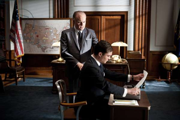 J.Edgar: J. EDGAR, l-r: Leonardo DiCaprio (as J. Edgar Hoover), Ed Westwick, 2011, ph: Keith Bernstein/©Warner Bros. Pictures/courtesy Everett Collection
