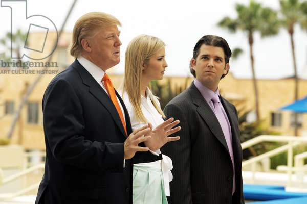 THE APPRENTICE 6, Donald Trump, Ivanka Trump, Donald Trump Jr., 'Hollywood Walk of Shame', (Season 6, ep. 603, aired Jan. 21, 2007), 2004-. photo: Tommy Baynard / © NBC / Courtesy: Everett Collection