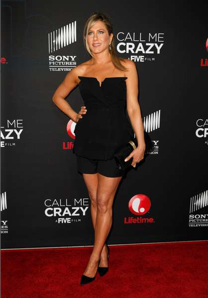 Jennifer Aniston (wearing Christian Dior) at arrivals for CALL ME CRAZY: A Five Film World Premiere, Pacific Design Center, Los Angeles, CA April 16, 2013. Photo By: Emiley Schweich/Everett Collection