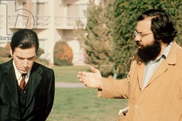 Al Pacino et Francis Ford Coppola: THE GODFATHER: PART II, Al Pacino, director Francis Ford Coppola, on set, 1974