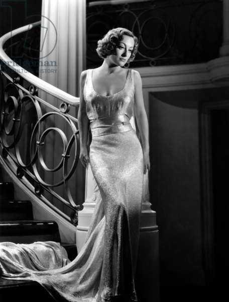 Vivre sa vie: I LIVE MY LIFE, Joan Crawford wearing evening gown designed by Adrian, 1935