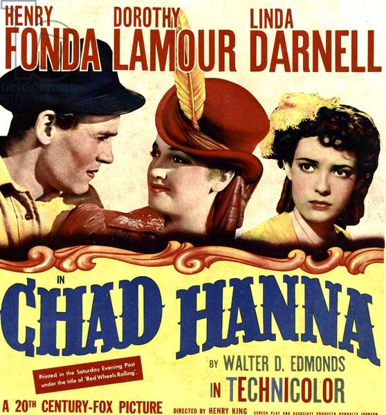 La Belle Ecuyere: CHAD HANNA, from left: Henry Fonda, Dorothy Lamour, Linda Darnell on window card, 1940, TM and Copyright ©20th Century Fox Film Corp. All rights reserved./courtesy Everett Collection