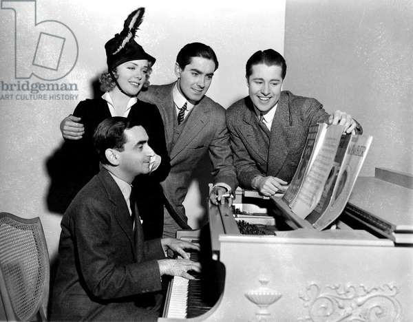 ALEXANDER'S RAGTIME BAND, Alice Faye, Irving Berlin, Tyrone Power, Don Ameche, 1938