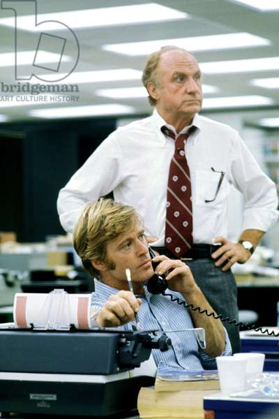 ALL THE PRESIDENT'S MEN, Robert Redford, Jack Warden, 1976