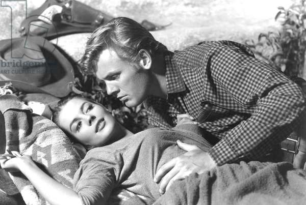 THE BURNING HILLS, Natalie Wood, Tab Hunter, 1956