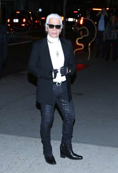 Karl Lagerfeld at arrivals for The Museum of Modern Art Film Benefit: A Tribute to Tilda Swinton, MoMA Museum of Modern Art, New York, NY November 5, 2013. Photo By: Andres Otero/Everett Collection