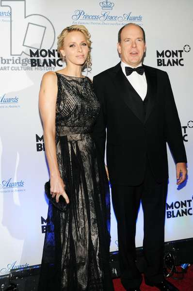 Princess Charlene of Monaco (wearing a Dior gown), T.S.H. Prince Albert II at arrivals for 2011 Princess Grace Awards Gala, Cipriani Restaurant 42nd Street, New York, NY November 1, 2011. Photo By: Desiree Navarro/Everett Collection