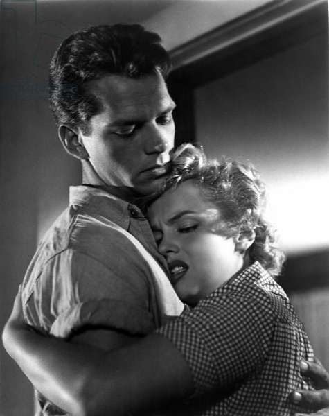CLASH BY NIGHT, Keith Andes, Marilyn Monroe, 1952