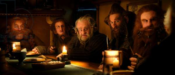 Le Hobbit: Le Voyage Inattendu: THE HOBBIT: AN UNEXPECTED JOURNEY, from left: Stephen Hunter, Adam Brown, Mark Hadlow, Jed Brophy, Peter Hambleton, 2012. /©Warner Bros. Pictures/Courtesy Everett Collection