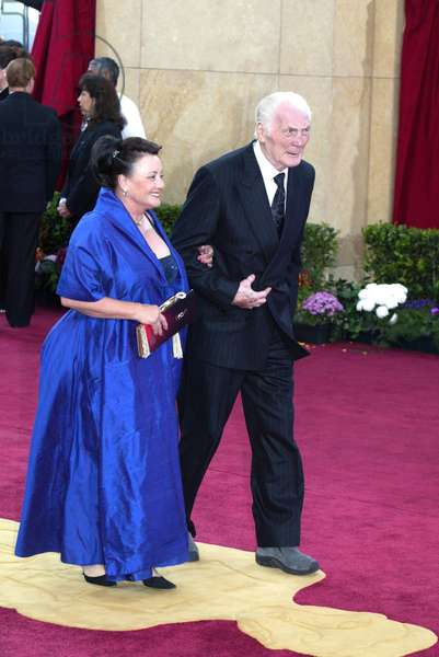 Jack Palance and his wife arriving at the 75th Academy Awards, LA, CA 3/23/2003. ABC/Courtesy Everett Collection