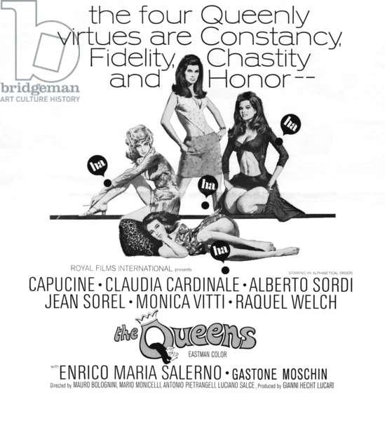 Les ogresses: THE QUEENS, (aka LE FATE), Capucine, Claudia Cardinale, Monica Vitti, Raquel Welch, 1966