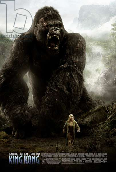 KING KONG, Naomi Watts, poster art, 2005, (c) Universal / courtesy Everett Collection
