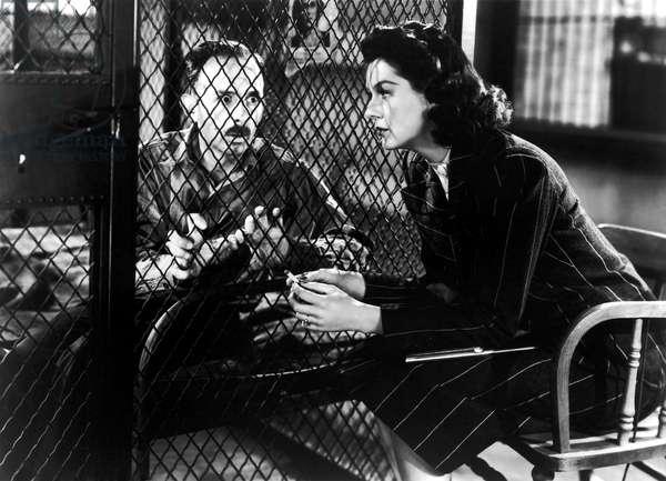 HIS GIRL FRIDAY, John Qualen, Rosalind Russell, 1940