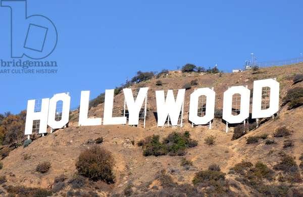Le panneau Hollywood