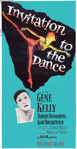 INVITATION TO THE DANCE, US poster art, left: Gene Kelly, 1956: INVITATION TO THE DANCE, US poster art, left: Gene Kelly, 1956