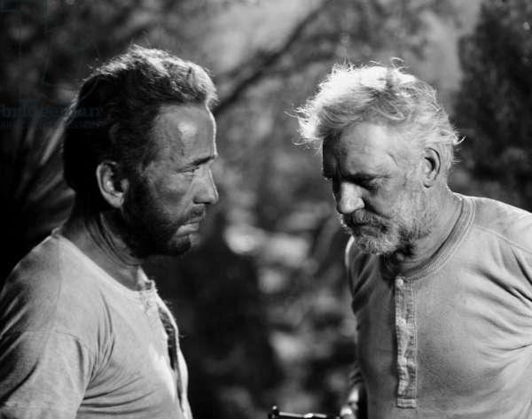 THE TREASURE OF THE SIERRA MADRE, from left: Humphrey Bogart, Walter Huston, 1948