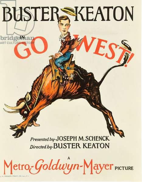 Ma vache et moi: GO WEST! (aka GO WEST), Buster Keaton, 1925.