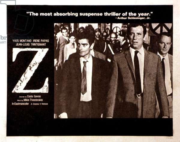 Z, Charles Denner, Yves Montand, 1969