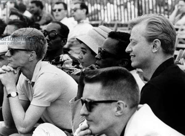 Jazz on a summer day: JAZZ ON A SUMMER'S DAY, Gerry Mulligan, Frances Taylor Davis (Miles Davis's wife), Miles Davis, 1959 (at the 1958 Newport Jazz Festival)