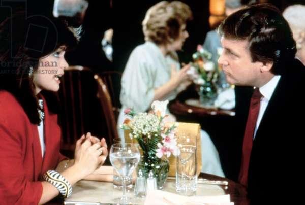 I'LL TAKE MANHATTAN, (from left): Valerie Bertinelli, Donald Trump, 1987. � Steve Krantz Prod. / Cou