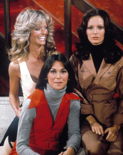 CHARLIE'S ANGELS, Farrah Fawcett, Jaclyn Smith, Kate Jackson, 1976-81.