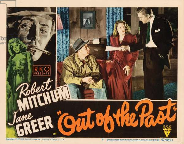 OUT OF THE PAST, Robert Mitchum, Jane Greer, Kirk Douglas, 1947