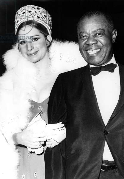"BARBRA STREISAND, and Louis Armstrong, premiere of ""Hello Dolly"", 1969"
