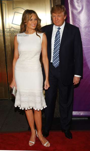 Donald Trump and Melania Trump at arrivals for NBC UPFRONT Primetime Preview, Radio City Music Hall, New York, NY, May 16, 2005. Photo by: Brad Barket/Everett Collection