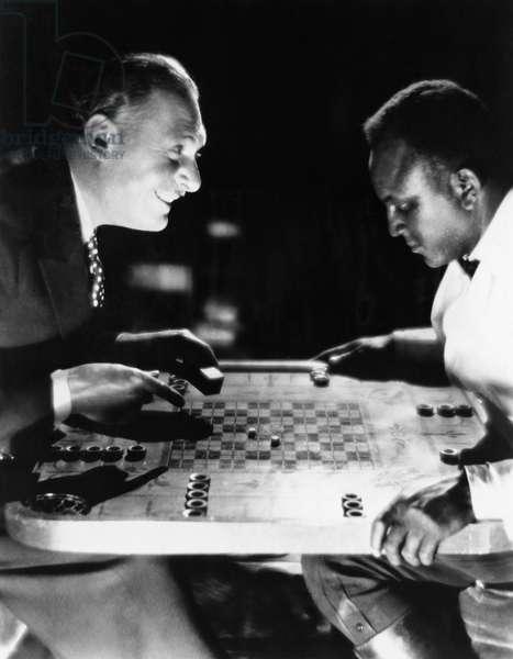 Two Men Playing Backgammon