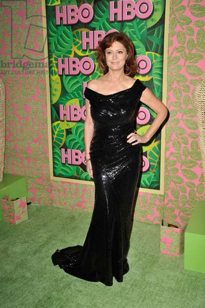 Susan Sarandon (wearing Donna Karan gown, Ippolita and Anita Ko jewelry) at arrivals for HBO Post-Emmy Party, The Plaza at the Pacific Design Center, Los Angeles, CA August 29, 2010. Photo By: Robert Kenney/Everett Collection