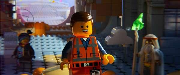 THE LEGO MOVIE, l-r: Wyldstyle (voice: Elizabeth Banks), Emmet (voice: Chris Pratt), Vitruvius (voice: Morgan Freeman), 2014, ©Warner Bros. Pictures/courtesy Everett Collection