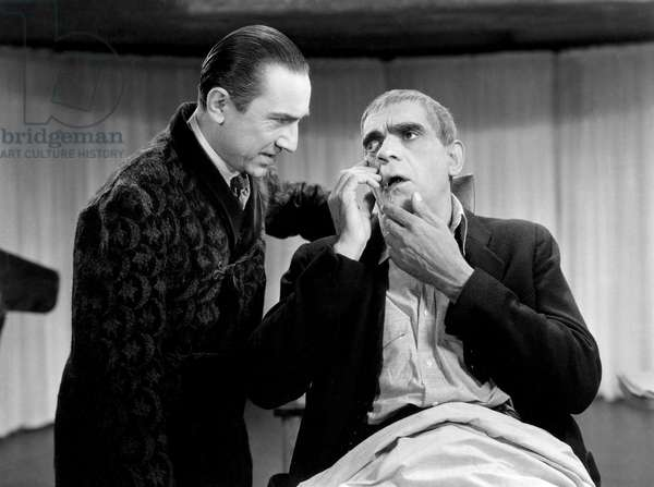 THE RAVEN, Bela Lugosi, Boris Karloff, 1935