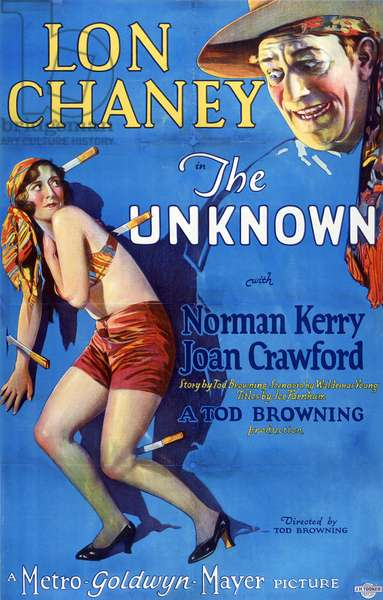 THE UNKNOWN, Joan Crawford, Lon Chaney, 1927