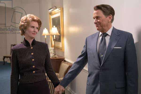 KILLING REAGAN, l-r: Cynthia Nixon (as Nancy Reagan), Tim Matheson (as Ronald Reagan), (aired October 16, 2016). ph: Hopper Stone/©National Geographic Channel/courtesy Everett Collection