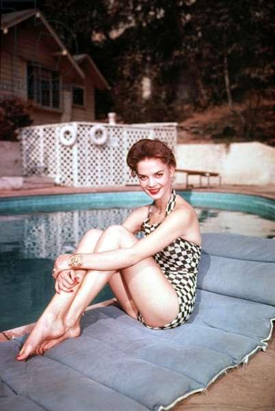 Natalie Wood at poolside, 1950s