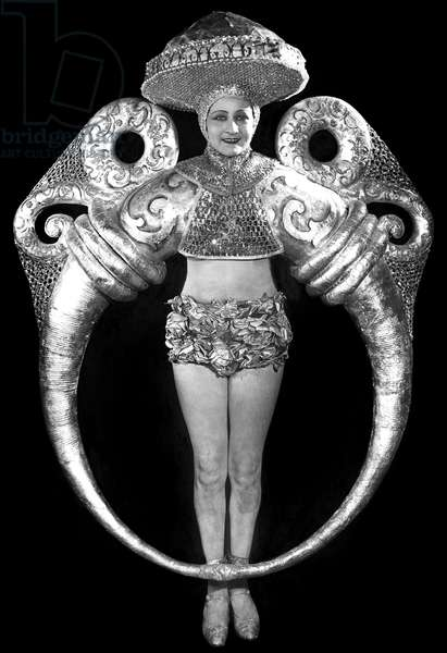 Portrait of Woman in Elaborate Ring Costume