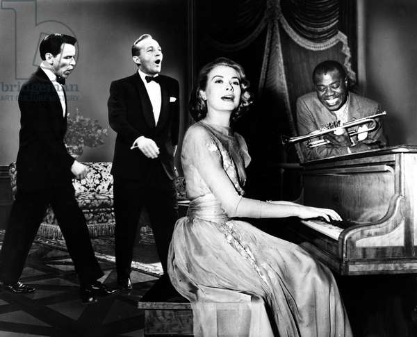 HIGH SOCIETY, Frank Sinatra, Bing Crosby, Grace Kelly, Louis Armstrong, 1956