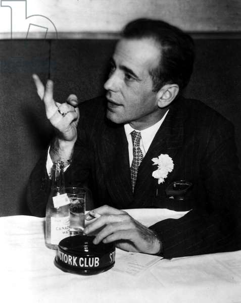 Humphrey Bogart at The Stork Club around 1950
