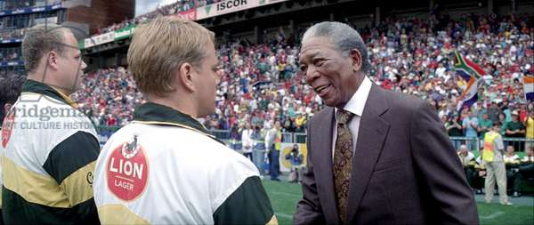 INVICTUS, foreground from left: Matt Damon, Morgan Freeman (as Nelson Mandela), 2009. ©Warner Bros./courtesy Everett Collection