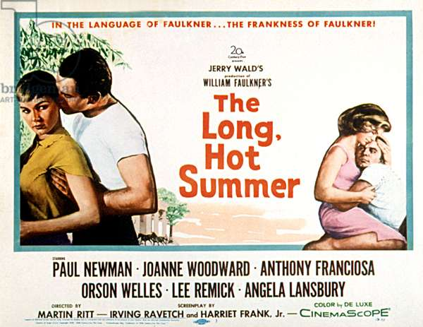 THE LONG, HOT SUMMER, Joanne Woodward, Paul Newman, Lee Remick, Anthony Franciosa, poster art, 1958, TM and Copyright (c)20th Century Fox Film Corp. All rights reserved.