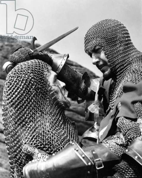 Les chevaliers de la table ronde: KNIGHTS OF THE ROUND TABLE, from left: Mel Ferrer, Robert Taylor, 1953