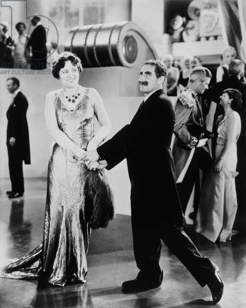 DUCK SOUP, from left: Margaret Dumont, Groucho Marx, 1933