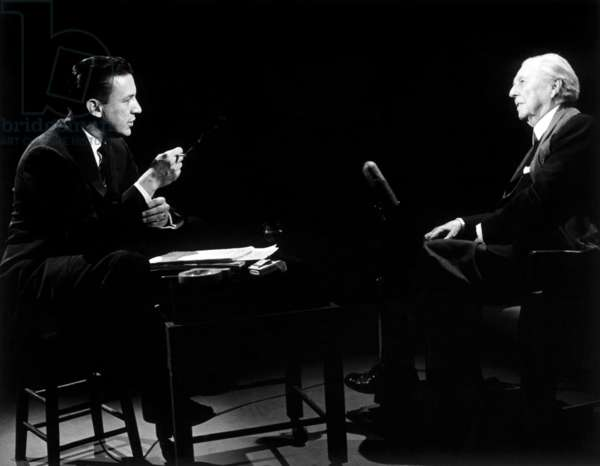 THE MIKE WALLACE INTERVIEW, from left: Mike Wallace, Frank Lloyd Wright, 1957-1958