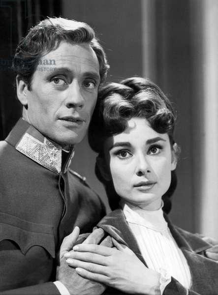 WAR AND PEACE, Mel Ferrer, Audrey Hepburn, 1956